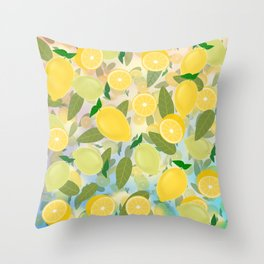 Lemon Song Throw Pillow