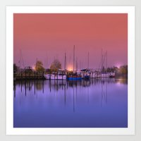 marina Art Prints featuring Marina by Laake-Photos