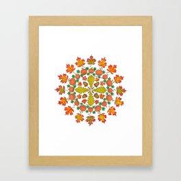 Autumn Mandala Framed Art Print