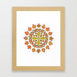 Autumn Mandala Framed Art Print