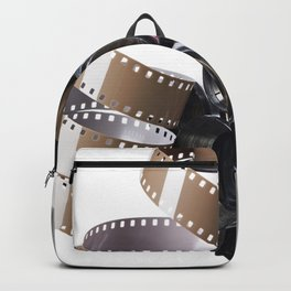 Retro movie camera and reel film Backpack