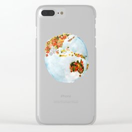 Blooming Earth Clear iPhone Case
