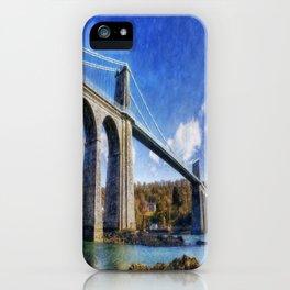 Menai Susupension Bridge iPhone Case