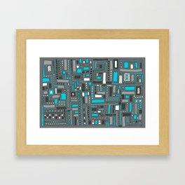 Turquoise Dream (Pattern) Framed Art Print