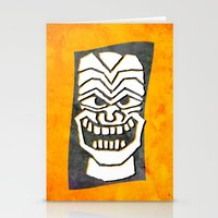 tiki Stationery Cards featuring Tiki by materndesign