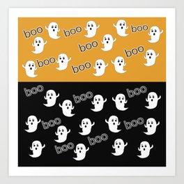 Halloween Ghosts! Art Print