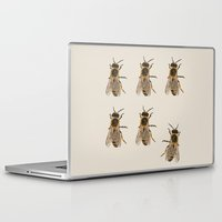 bees Laptop & iPad Skins featuring Bees  by Cécile Pellerin