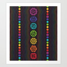 Rainbow Chakras Art Print