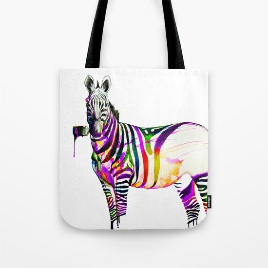 zebra painting Tote Bag