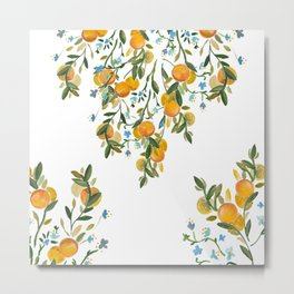 A Bit of Spring and Sushine Trailing Oranges Metal Print
