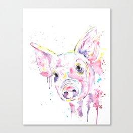 Pig - This Little Piggy Canvas Print