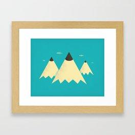 Pencil Mountains Framed Art Print