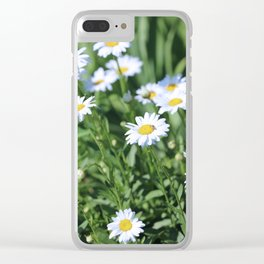 Daisies Daisies Clear iPhone Case