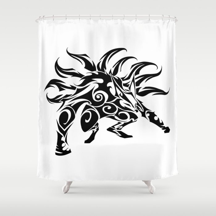Kurama Tribal Shower Curtain By Kimcastello