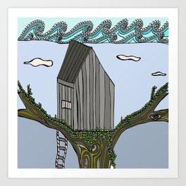 Cape Elizabeth Tree House Art Print
