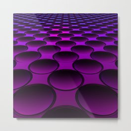 Purple Dimples Metal Print