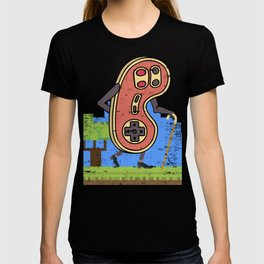 Retro Gamer Old Age Gamer Gift Design Idea graphic T-shirt