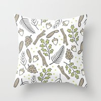 forrest Throw Pillows featuring Forrest by Hennel Paper Co.