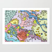 Lost in aquatic thoughts by 12fv Art Print