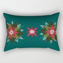 Christmas Poinsettia Rectangular Pillow