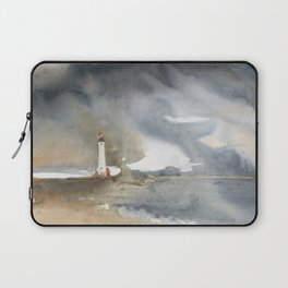 Storm over Crisp Point Lighthouse Laptop Sleeve