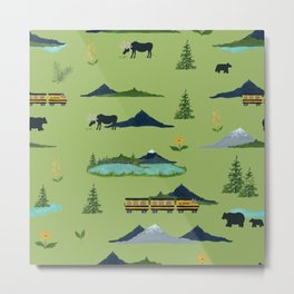 Alaska - Green Metal Print