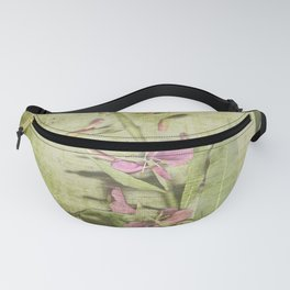 Decorative Green Floral Fanny Pack