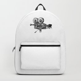 Awesome Distressed Film Video Camera Cameraman  Backpack