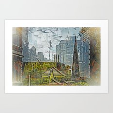Transamerican Lifestyle Downtown of SanFrancisco :  Art Print