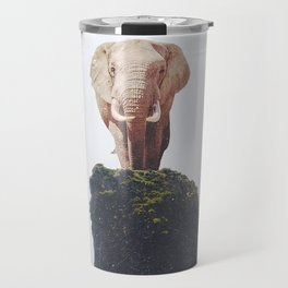No Way Down, Elephant at Iceland Black Sand Beach-Animals and Nature Travel Mug
