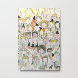 Witches and Wizards Class Photo Metal Print