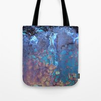 data Tote Bags featuring Waterfall  by Lena Weiss