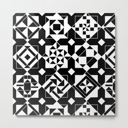 Quilt Squares Metal Print