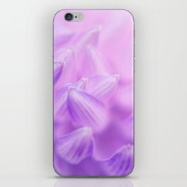 Pearl Petal Kiss | pink flower, pastel flowers, purple floral pattern, cute dahlia petals, macro iPhone Skin