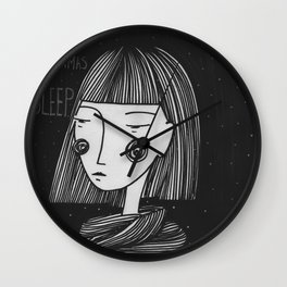 All I want for Christmas is sleep Wall Clock