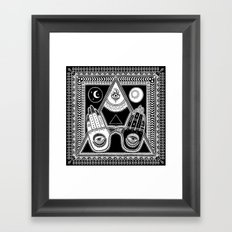 WE ARE ONE, WE ARE PEACE tapestry Framed Art Print