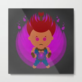Akuma in 95 dots Metal Print