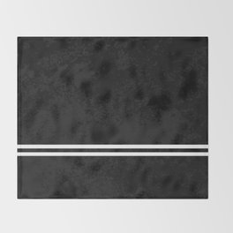 Infinite Road - Black And White Abstract Throw Blanket