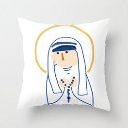 St. Teresa (Mother Teresa) Throw Pillow