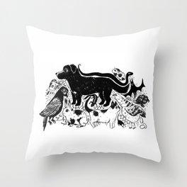 Hello Companions Throw Pillow