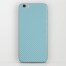 Aquamarine and White Polka Dots iPhone Skin