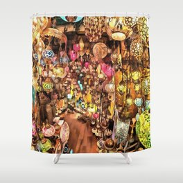 Lanterns, Lamps and Lighting of The Bazaar Shower Curtain