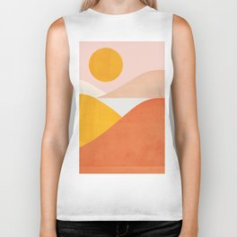 Abstraction_Mountains Biker Tank