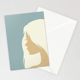 blonde girl in profile Stationery Cards
