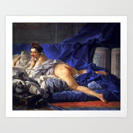 L'odalisque Brune - 17th century old oil painting Art Print
