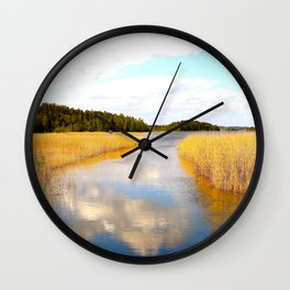View From The Bridge Wall Clock