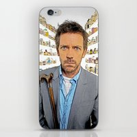 house md iPhone & iPod Skins featuring House MD - Colored Pencil Sketch Style by ElvisTR