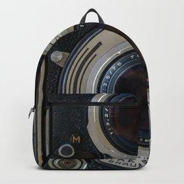 Close Up of Vintage Film Camera Backpack