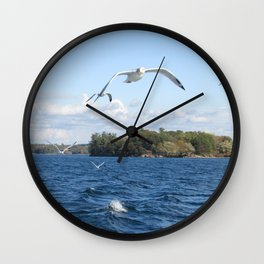 The Seagull Chase Wall Clock