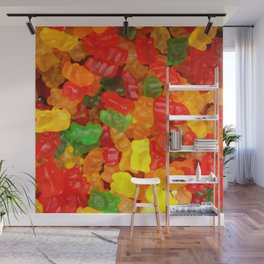 red orange yellow colorful gummy bear Wall Mural